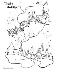 free printable christmas coloring sheets santa
