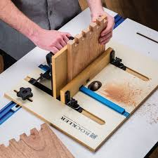Wood Joints Router by Rockler Xl Router Table Box Joint Jig Rockler Woodworking And