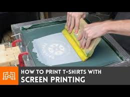 screen print your own t shirts how to youtube