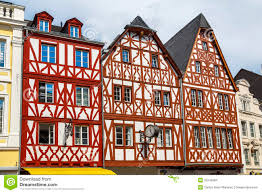 house in trier germany stock photo image of german timbered