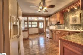 Kitchen Cabinets Greenville Sc by Craftsman Kitchen With Ceiling Fan U0026 Flat Panel Cabinets In