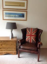 Vintage Brown Leather Armchair Millbrook Wingback Brown Leather Vintage Chesterfield Armchair