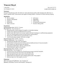 resume for a housekeeper unforgettable housekeeper resume