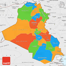 map of irak political simple map of iraq single color outside borders and labels