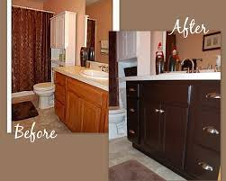 My Painted Bathroom Vanity Before - how to gel stain your cabinets links and product recommendations