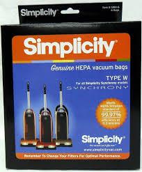 amazon com simplicity type w synchrony hepa vacuum cleaner bags 6