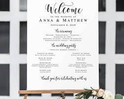 Template For Wedding Program Wedding Program Poster Etsy