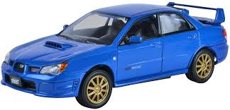 subaru impreza old blue subaru impreza wrx sti 1 24 scale diec cast car amazon ca