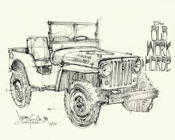 willys jeep off road the curb shop chris piscitelli willys jeep print