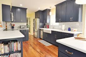 pictures of navy blue kitchen cabinets navy blue kitchen remodeling project in houston tx usa