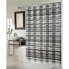 And Black Fabric For Curtains Glacier Fabric Shower Curtain Black Silver Combination Walmart