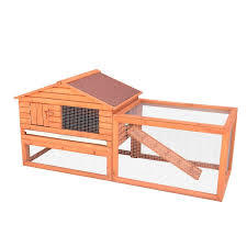 Heavy Duty Rabbit Hutch Pawhut Pawhut Outdoor Guinea Rabbit Hutch Habitat Pig Pet House