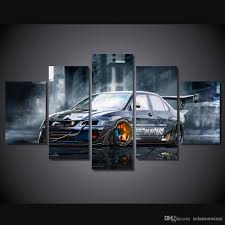Car Room Decor 2018 Hd Printed Modified Car Painting Canvas Print Room Decor