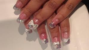 acrylic nails big bling bows youtube