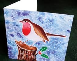 painted cards for sale painted christmas card water colour christmas cards sale 5