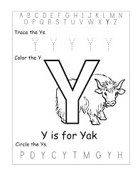 letter y worksheet kiddo shelter