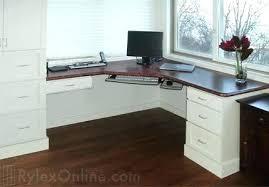 Computer Desk Mahogany Home Built Computer Desk Image For White Lacquer Corner Home