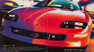 camaro 4th the few ads of the 1990s 4th camaro chevys only