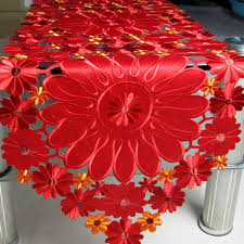 fabric for table runners wedding european table runner modern embroidery hollow tablecloth fabric