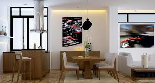 kitchen design hamilton two canvas wrapped motorsport prints hanging in the living room