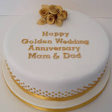 wedding anniversary cakes golden wedding anniversary cake