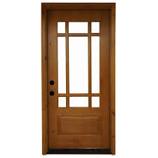 steves u0026 sons 36 in x 80 in craftsman 9 lite stained knotty