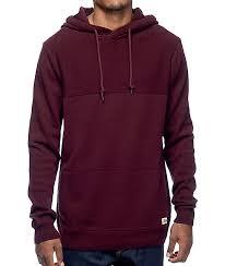 maroon sweaters dravus roald burgundy hooded sweater zumiez