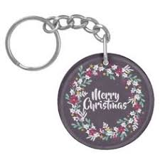 purple and pink merry chistmas snowflakes keychain
