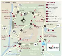 Red River New Mexico Map by Enchanted Circle Scenic Byway Maplets