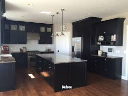 painted black kitchen cabinets before and after kitchen attractive painted black kitchen cabinets before and after