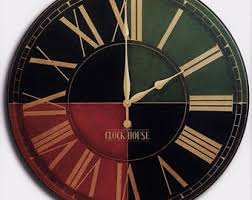 roman numerals clock etsy