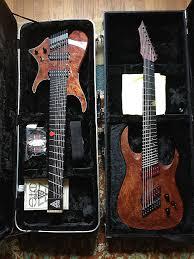 9 string fanned fret sic instruments nameless custom headless ff9 fanned fret 9 reverb