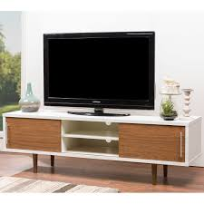 Futon Japonais Ikea Mid Century White And Brown Tv Stand By Baxton Studio By Baxton
