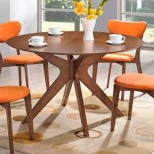 Modern Round Dining Table Wood Balboa Modern Round Dining Table In Walnut Eurway