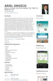 web developer cv bike n camp com