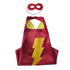 shazam cape mask red cape red mask superheroes mask