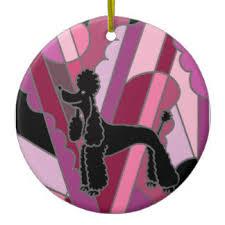 black standard poodle ornaments keepsake ornaments zazzle