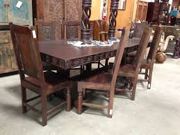 Rustic Leather Dining Chairs by Dining Table Hot Image Of Rustic Dining Room Decoration Design
