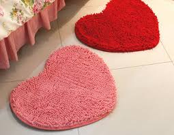 cute bath rugs ideas for teenage bathroom ideas using pink and red