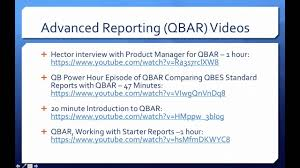 Introduction To A Resume Quickbooks Enterprise Advanced Reporting Part 2 Enterprise