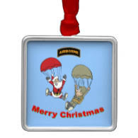 patriotic military christmas ornaments customize text or