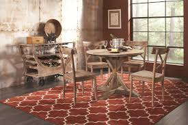 largo callista rustic casual counter height dining table set