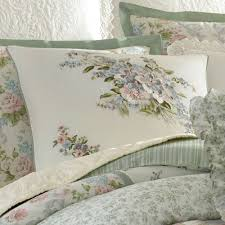 Laura Ashley Bathroom Furniture by Harper Celadon Floral Block Comforter Bedding By Laura Ashley