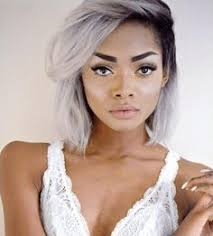 grey hairstyles for young women black women grey and blue short hair google search heads