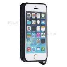 design iphone buckle design magnetic pu leather cover with mirror card