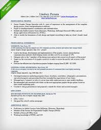 Sample Skills For Resume by Graphic Design Resume Sample U0026 Writing Guide Rg