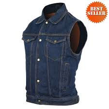 mens riding jackets mens blue denim jean vest jafrum