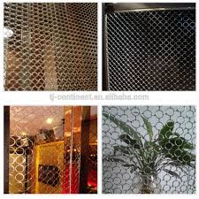 Wire Curtain Room Divider by Metal Mesh Curtain Chain Link Fence Decorative Wire Mesh For Room