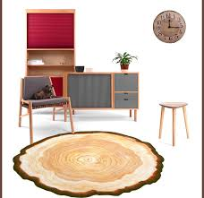 3d Area Rugs 3d Wood Tree Annual Ring Carpet For Bedroom Computer Chair