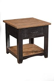 Rustic End Tables Martin Svensson Home 890135 Rustic End Table Antique Black And